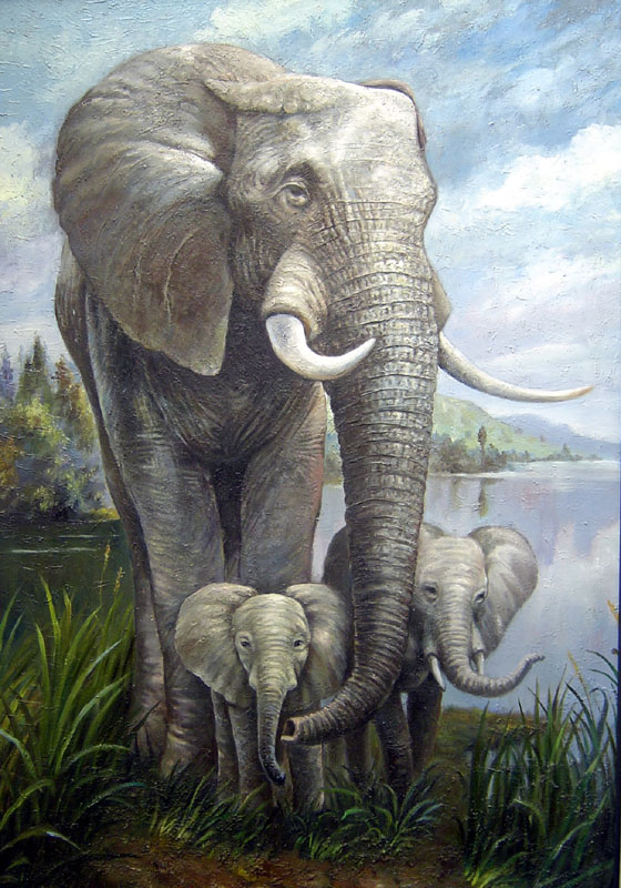 Oil Paintings Animals Paintings Sample d08a001-40x80