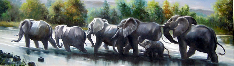 Oil Paintings Animals Paintings Sample d08a002-20x72