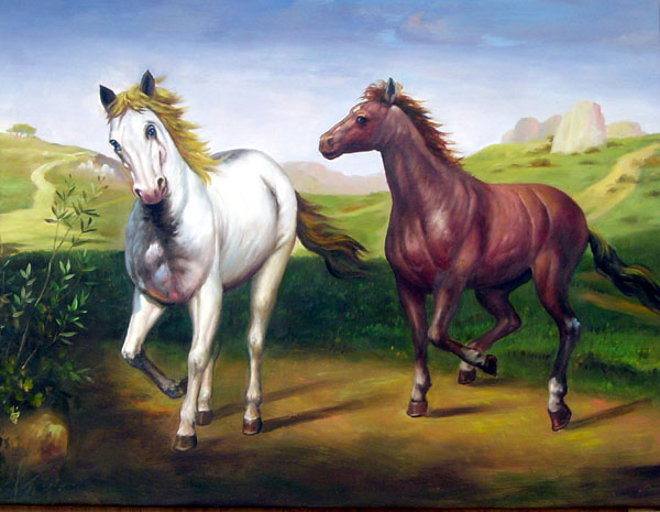 Oil Paintings Animals Paintings Sample d08a005-36x48