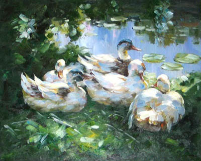 Oil Paintings Animals Paintings Sample d08a007