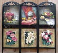 Wood Folding Screen d08f002-23x66x3